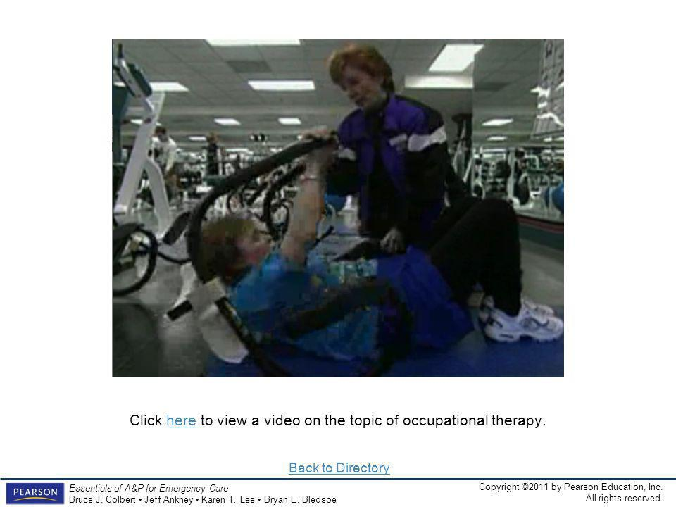 Click here to view a video on the topic of occupational therapy.