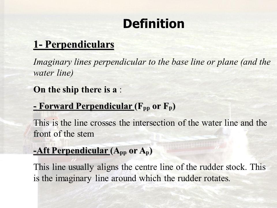 Definition 1- Perpendiculars