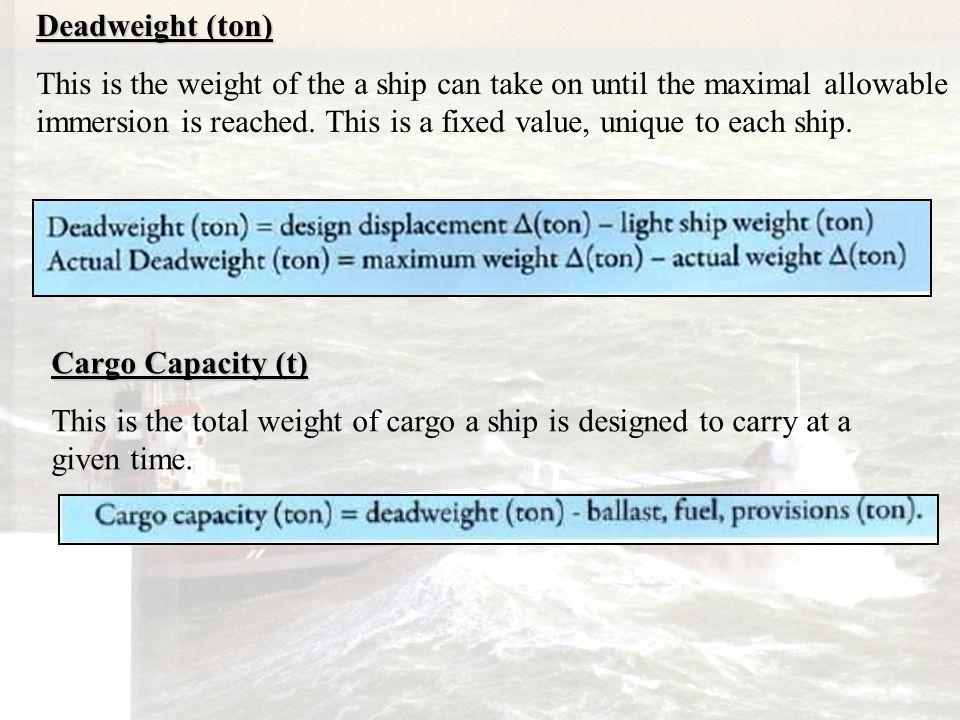 Deadweight (ton)