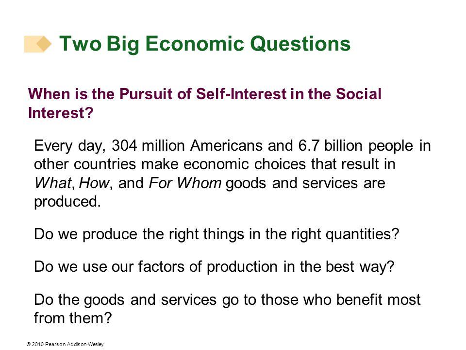 Two Big Economic Questions