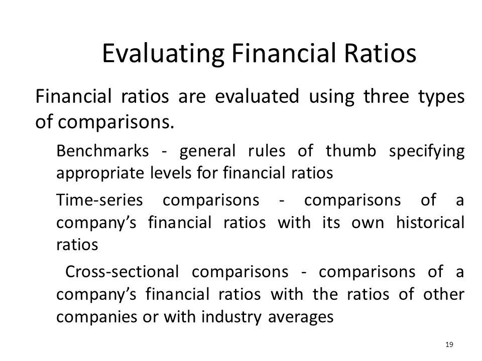 Evaluating Financial Ratios