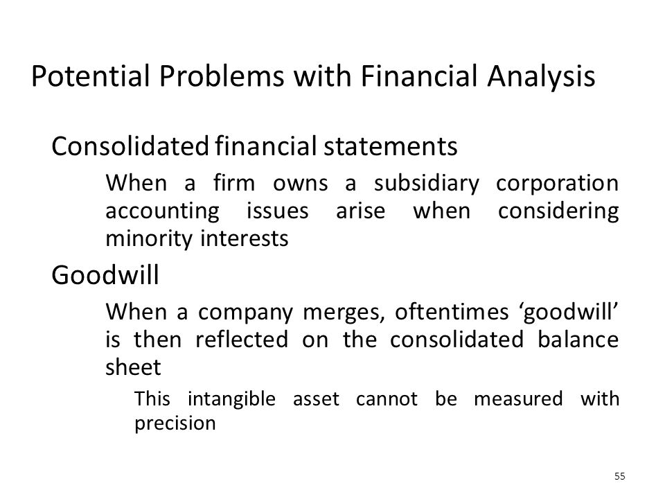 Potential Problems with Financial Analysis