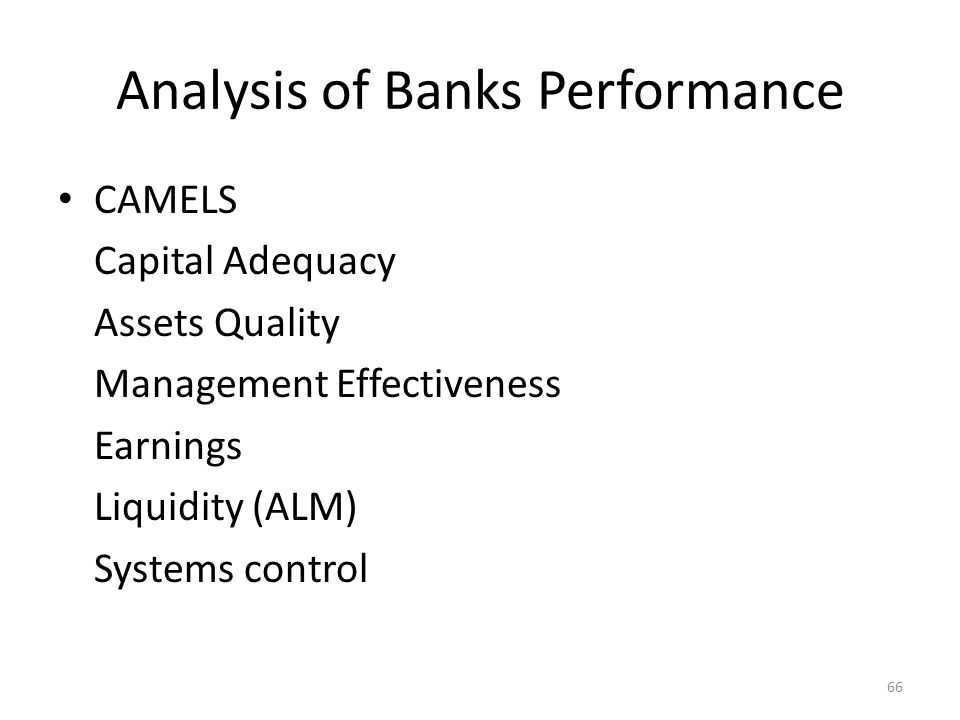 Analysis of Banks Performance