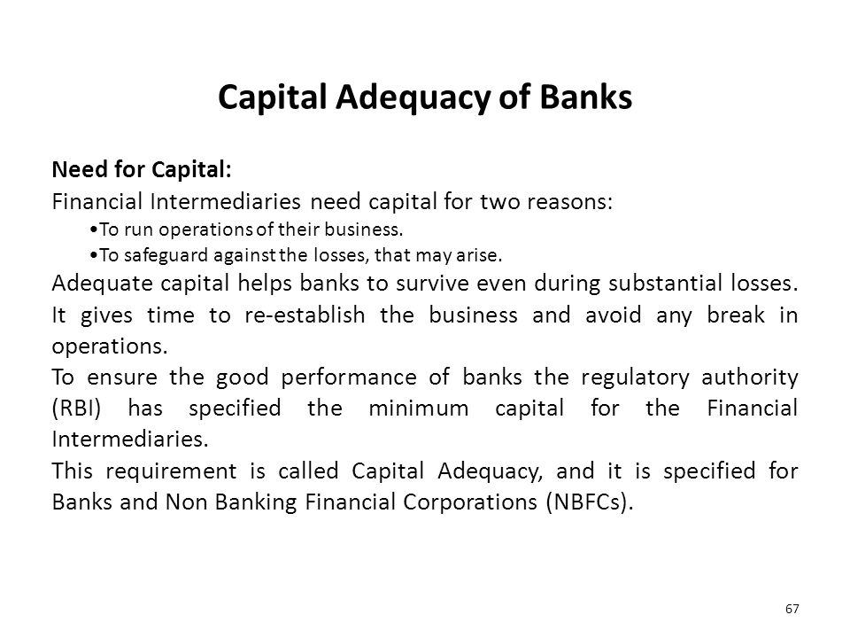 Capital Adequacy of Banks
