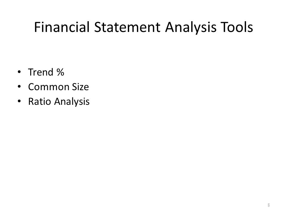 financial statement analysis tools Module - 6a analysis of financial statements notes 5 financial statements analysis - an introduction accountancy 272 techniques and tools of financial statement.