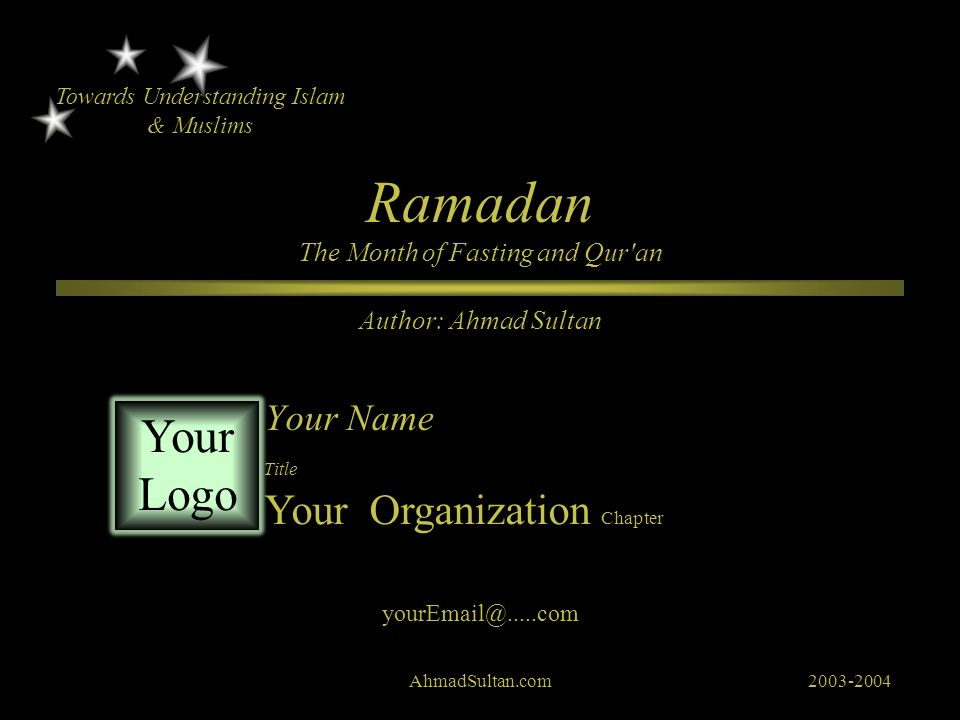 Ramadan The Month of Fasting and Qur an