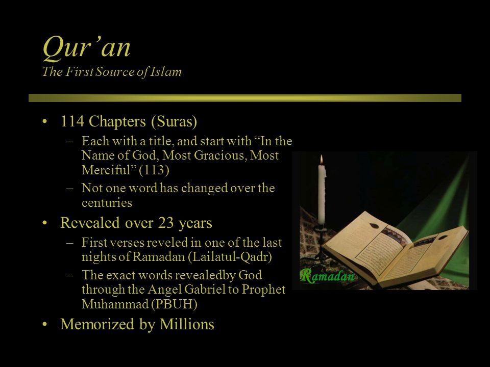 Qur'an The First Source of Islam