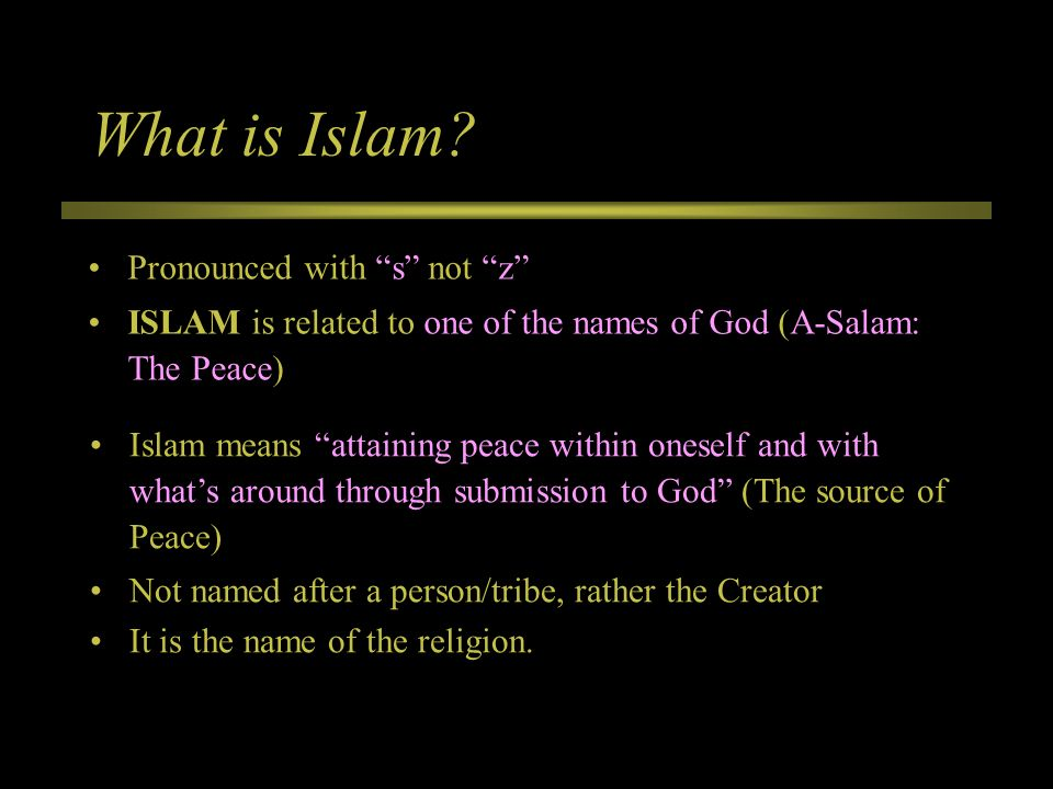 Towards Understanding Islam and Muslims