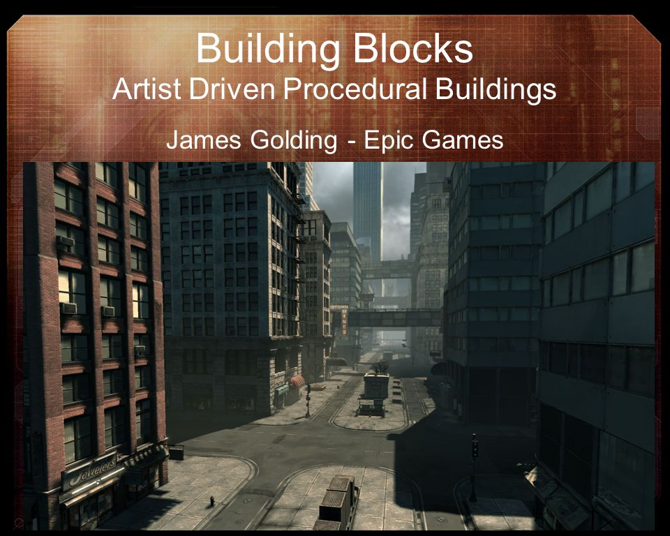 Building Blocks Artist Driven Procedural Buildings