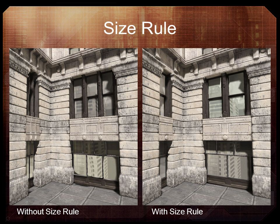 Size Rule Without Size Rule With Size Rule