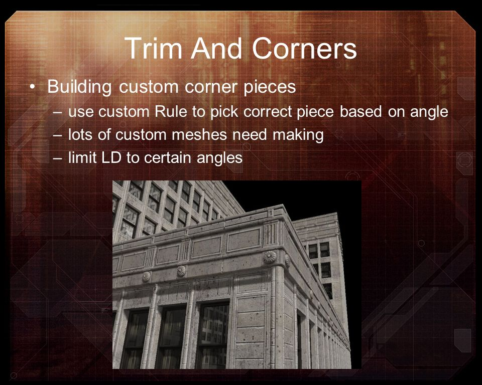 Trim And Corners Building custom corner pieces
