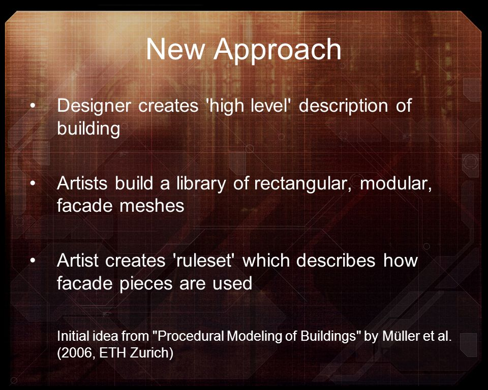 New Approach Designer creates high level description of building