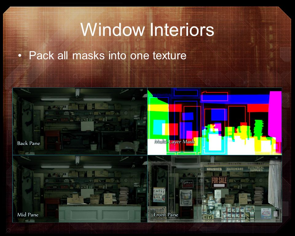 Window Interiors Pack all masks into one texture