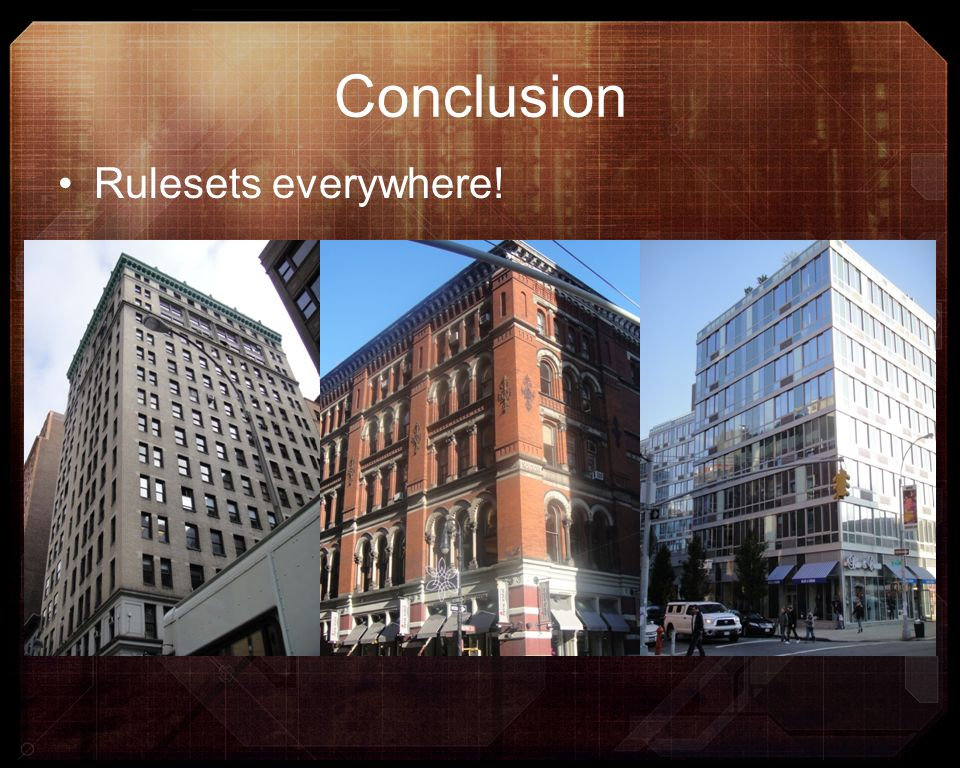 Conclusion Rulesets everywhere!