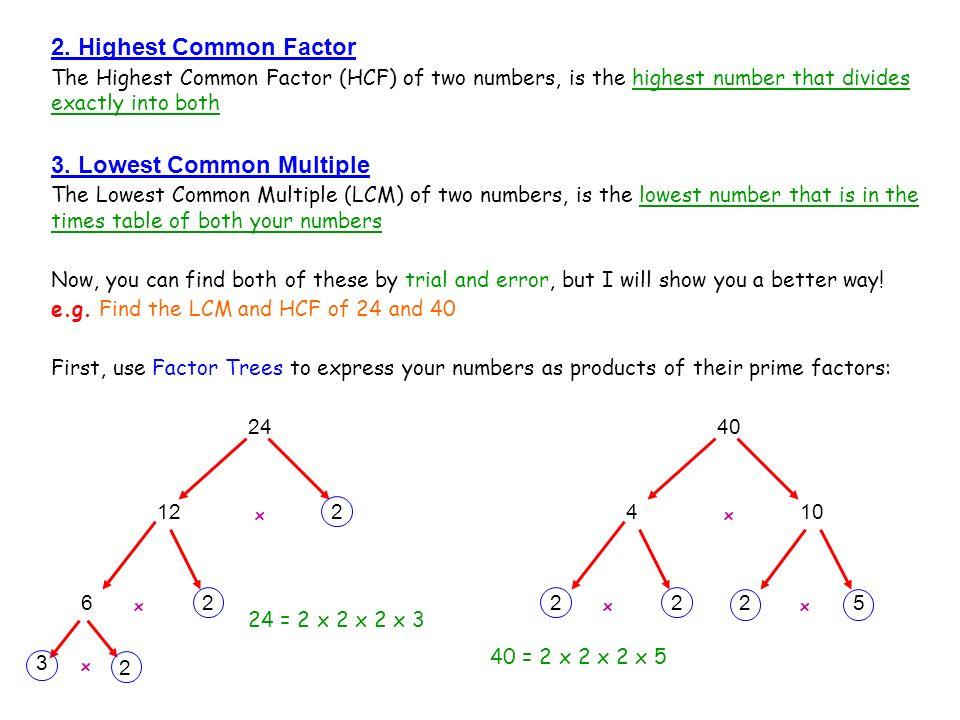 3. Lowest Common Multiple