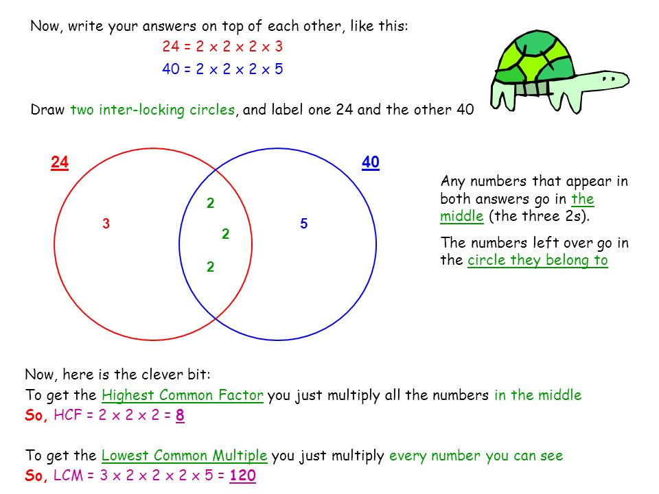 Now, write your answers on top of each other, like this: