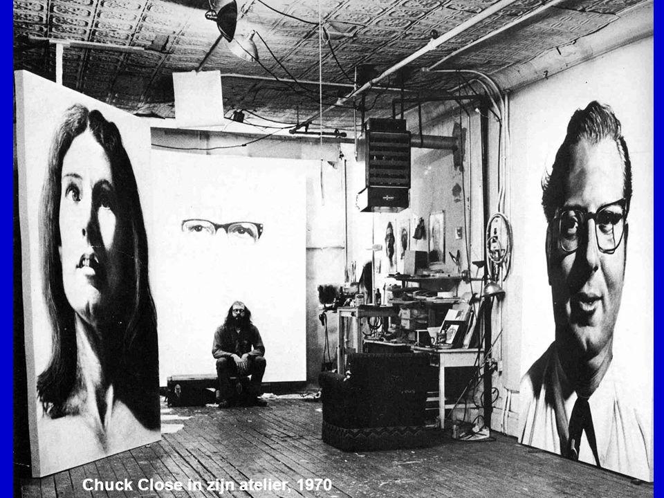 Chuck Close in zijn atelier, 1970