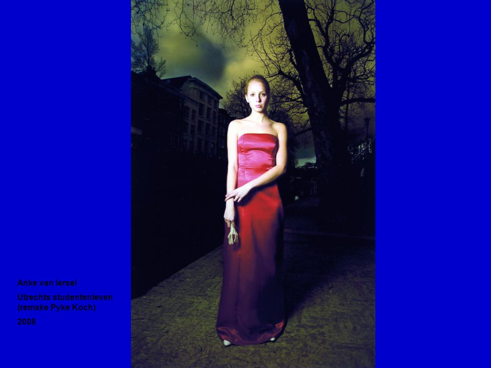 Anke van Iersel Utrechts studentenleven (remake Pyke Koch) 2008