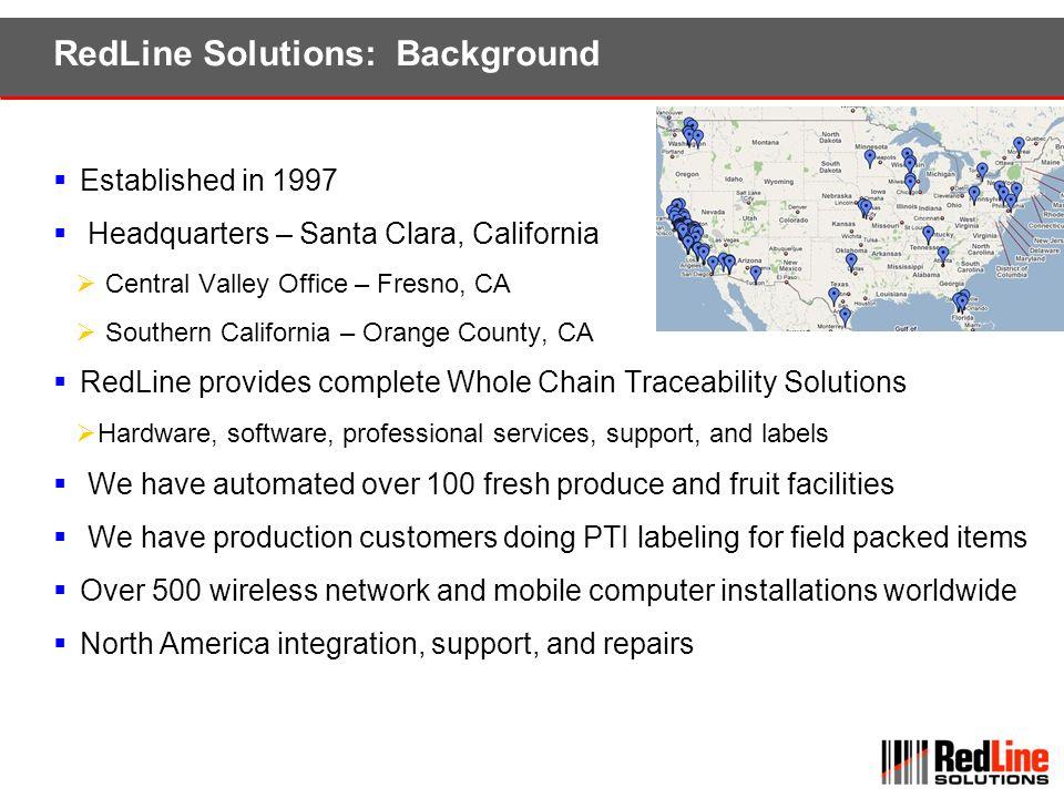 RedLine Solutions: Background