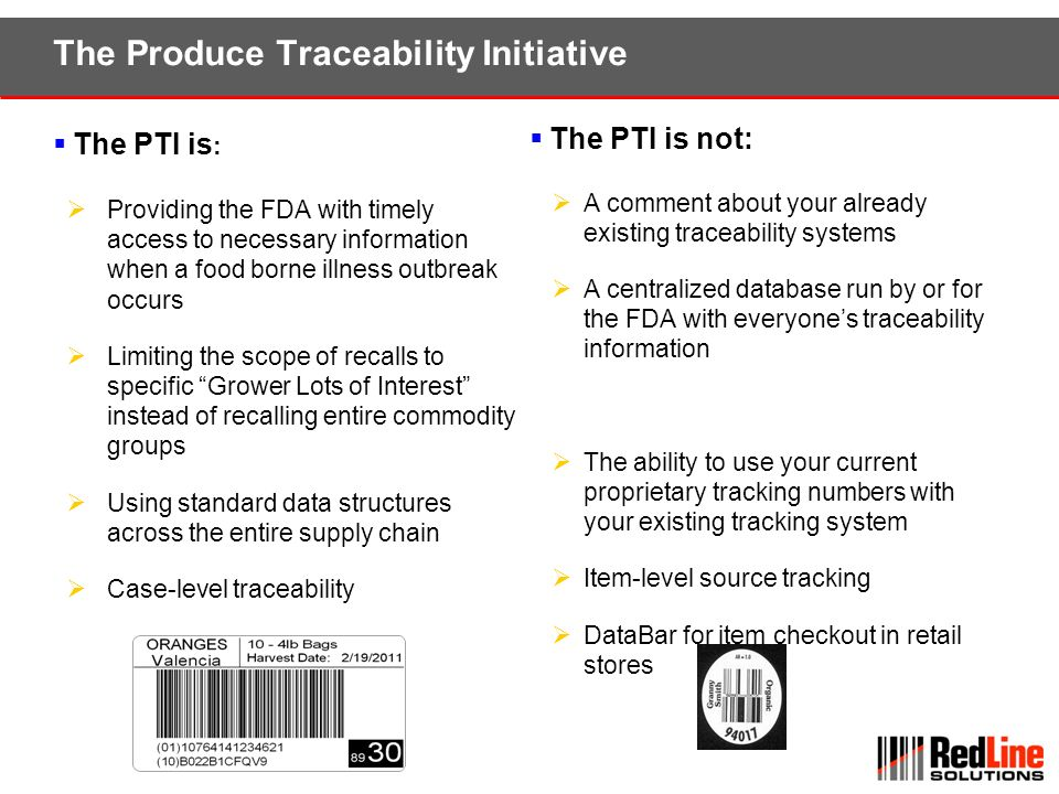 The Produce Traceability Initiative
