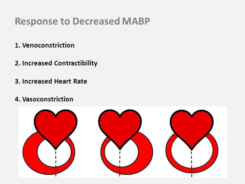 Response to Decreased MABP 1. Venoconstriction 2