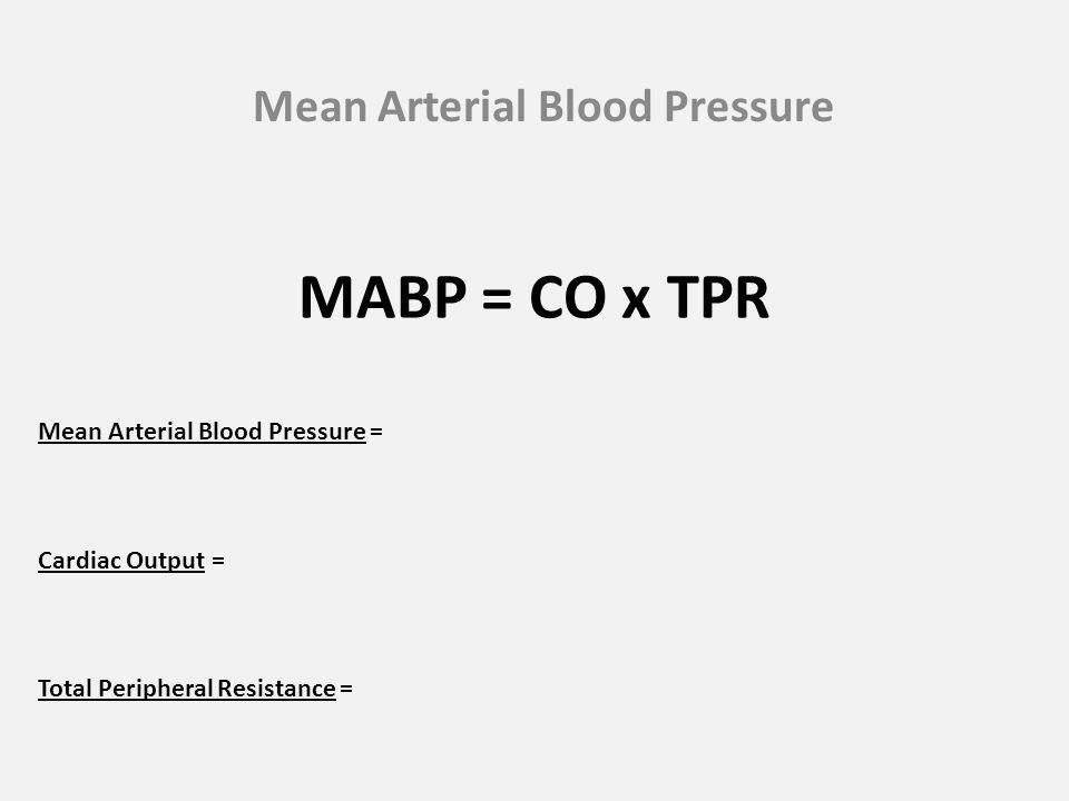 Mean Arterial Blood Pressure