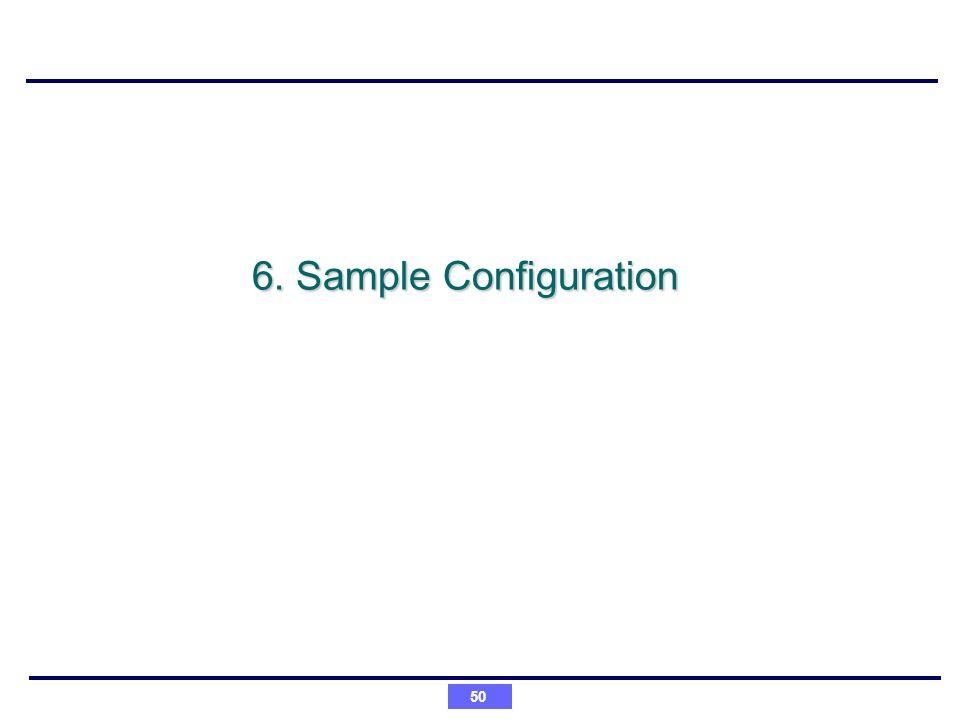 6. Sample Configuration