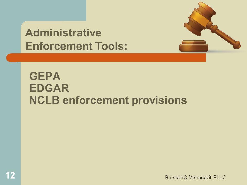 GEPA EDGAR NCLB enforcement provisions