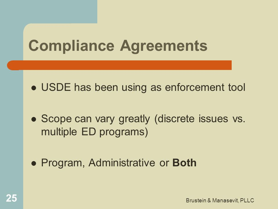 Compliance Agreements