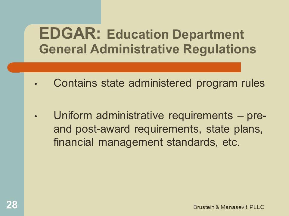 EDGAR: Education Department General Administrative Regulations