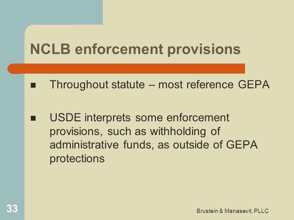 NCLB enforcement provisions