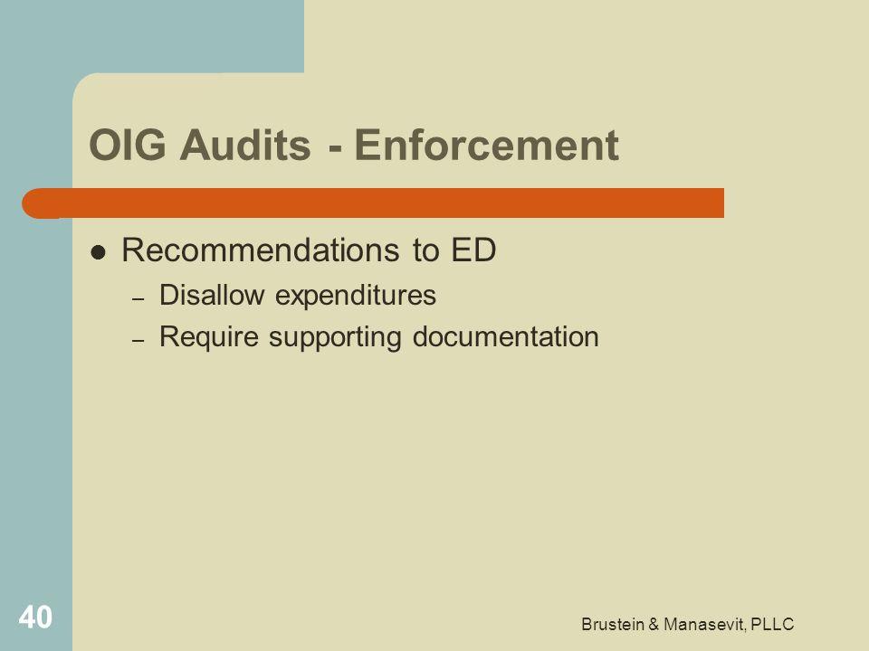 OIG Audits - Enforcement