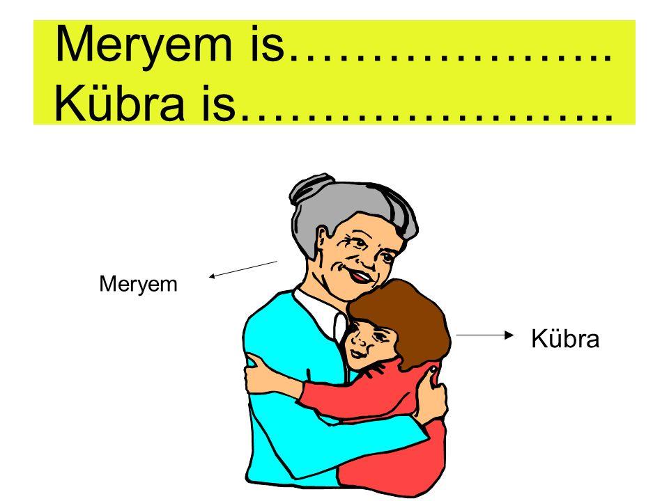 Meryem is……………….. Kübra is…………………..