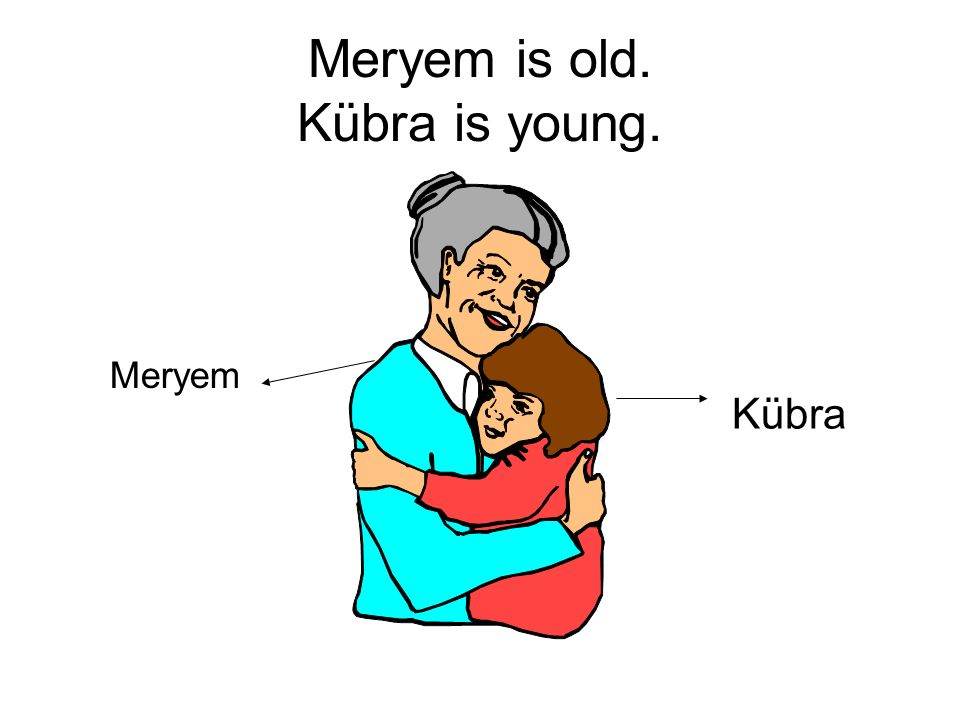 Meryem is old. Kübra is young.