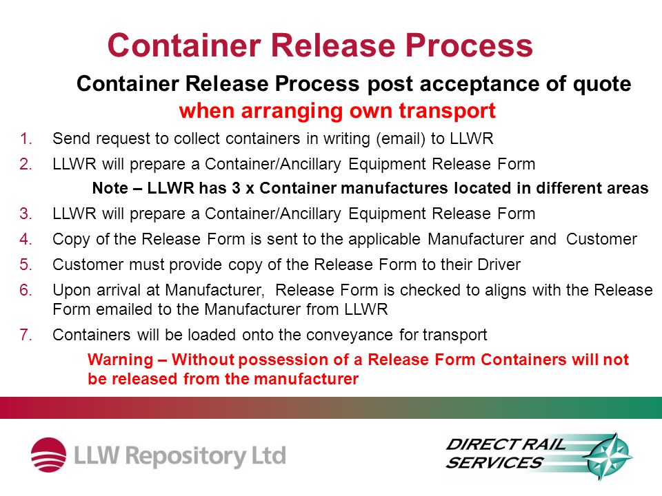 Container Release Process