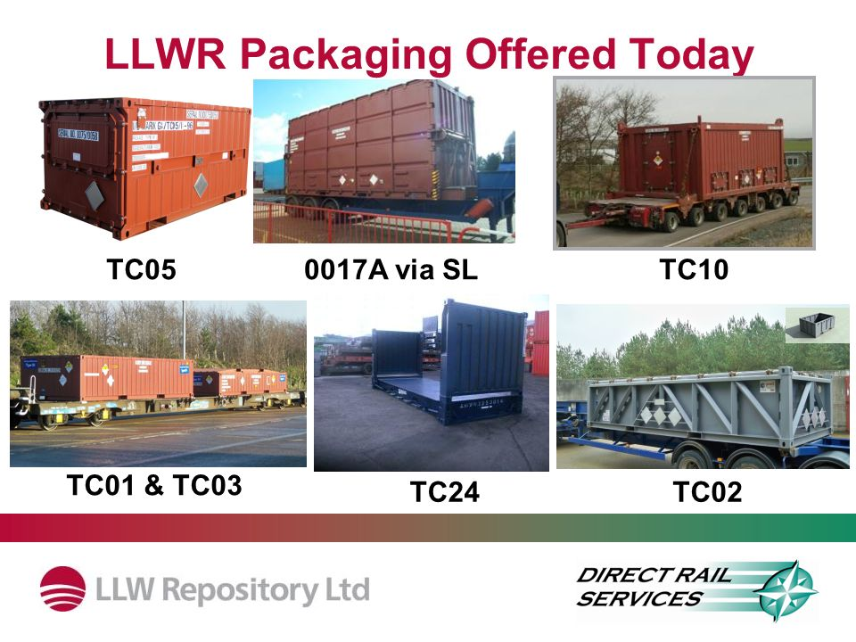 LLWR Packaging Offered Today