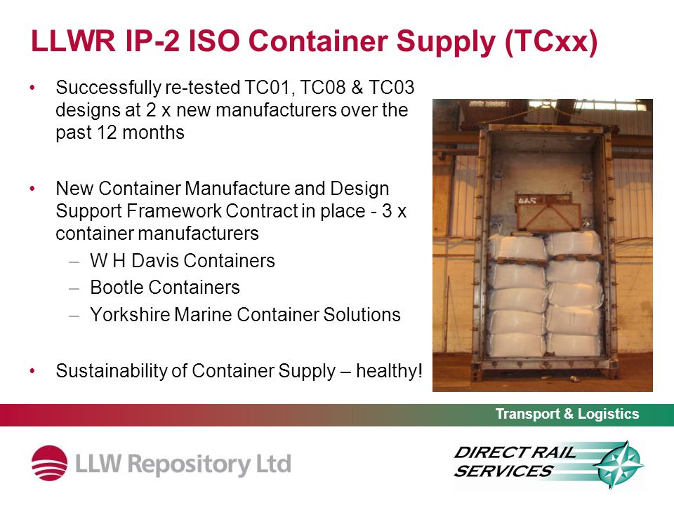 LLWR IP-2 ISO Container Supply (TCxx)