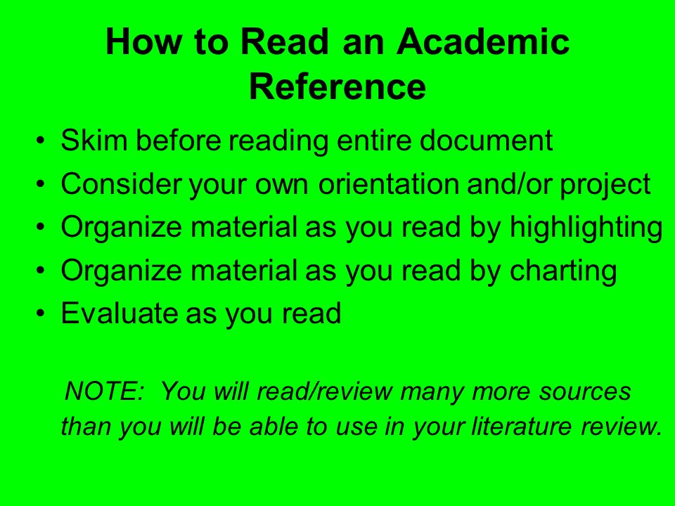 How to Read an Academic Reference