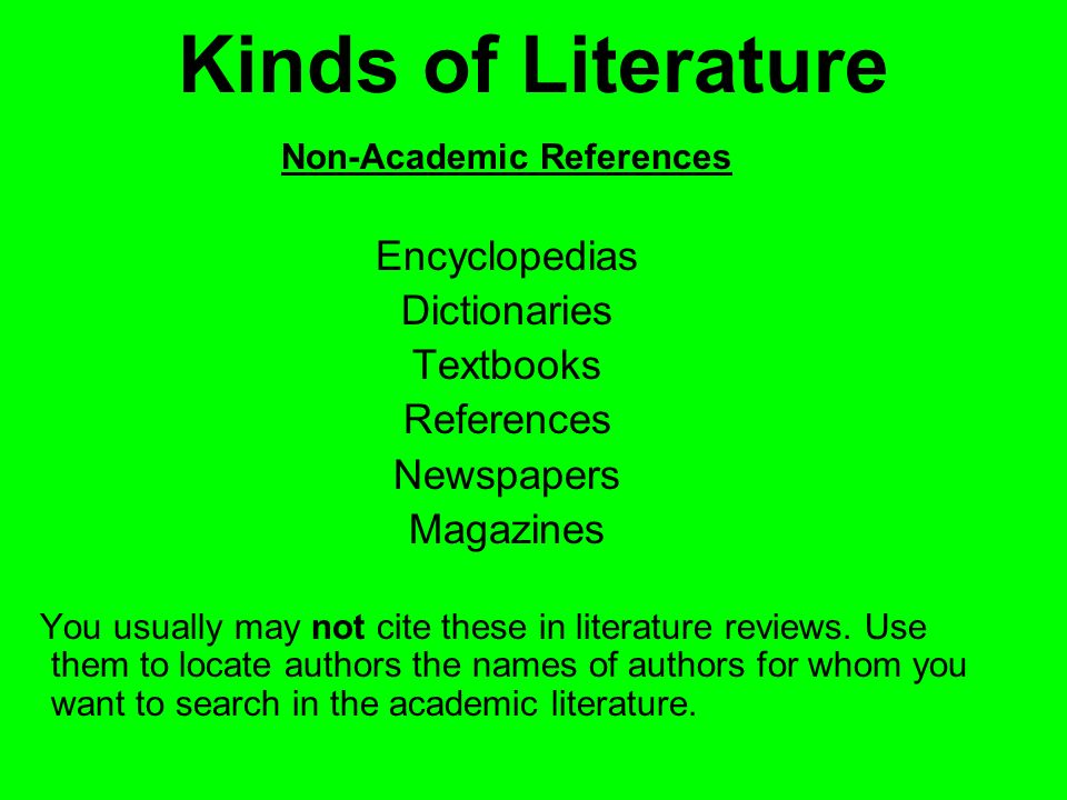 Non-Academic References