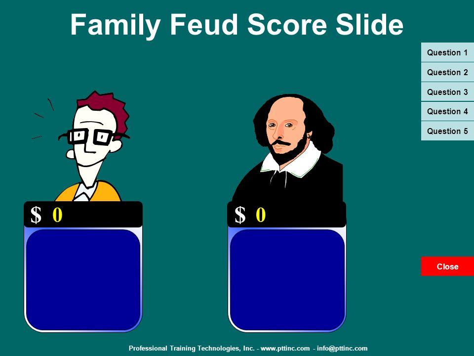 Family Feud Score Slide