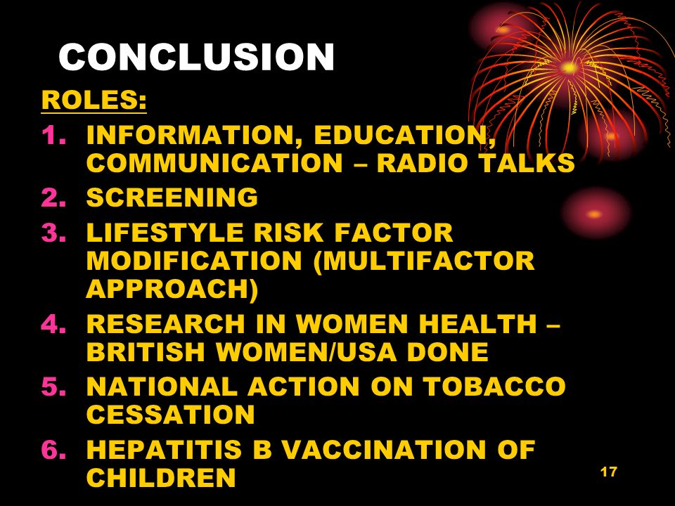 CONCLUSION ROLES: INFORMATION, EDUCATION, COMMUNICATION – RADIO TALKS