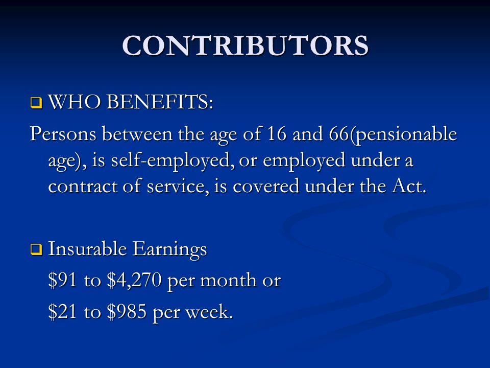 CONTRIBUTORS WHO BENEFITS:
