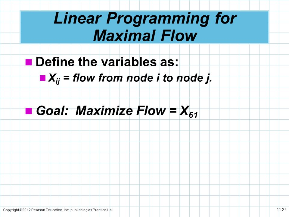 Linear Programming for Maximal Flow