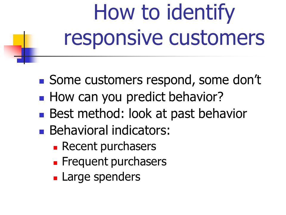 How to identify responsive customers