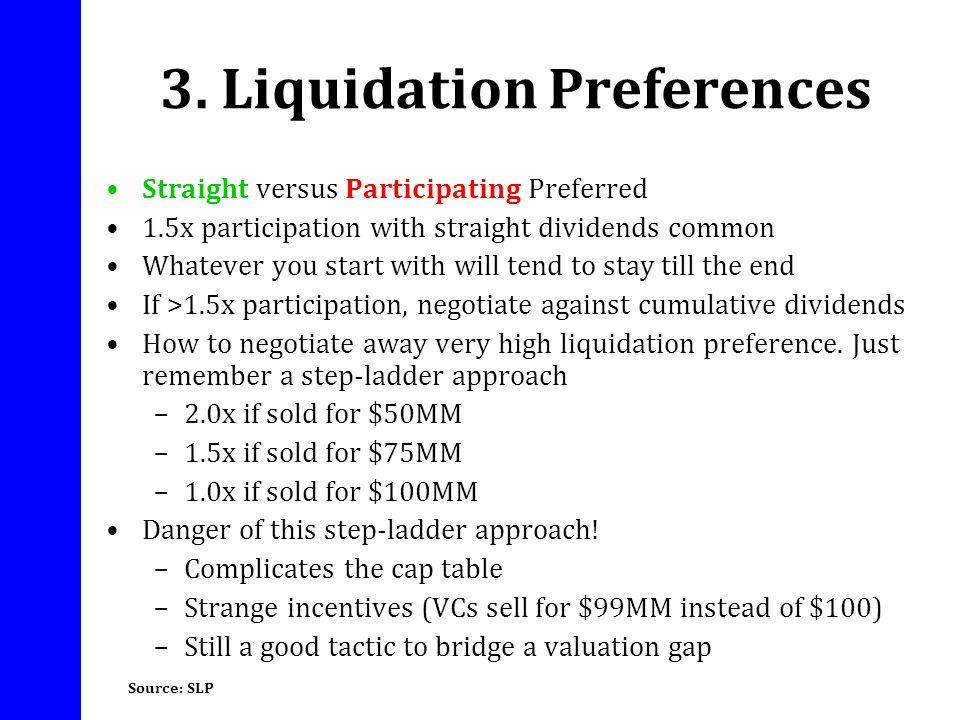 3. Liquidation Preferences