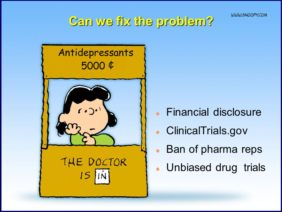 Can we fix the problem Financial disclosure ClinicalTrials.gov