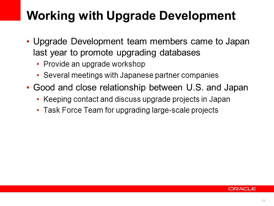 Working with Upgrade Development