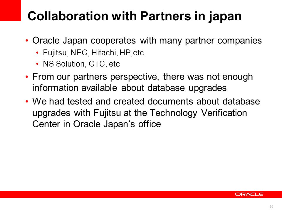 Collaboration with Partners in japan