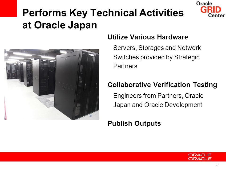 Performs Key Technical Activities at Oracle Japan