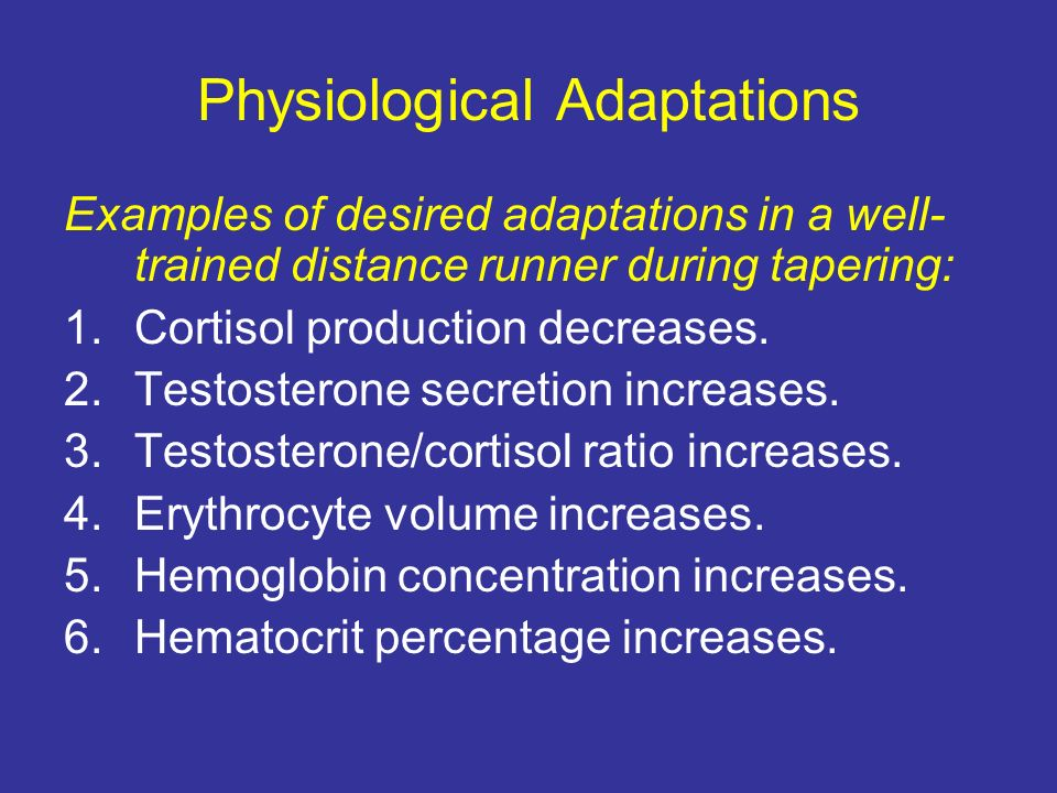 Physiological Adaptations